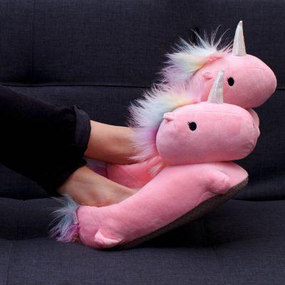 Pantofole - Pantofole Unicorno Riscaldate