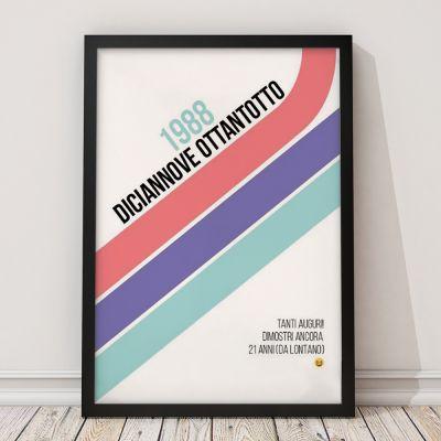 Regali di Compleanno per Lei - Poster di Compleanno Personalizzabile