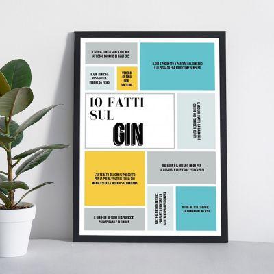 Regali di Compleanno per i 40 Anni - Poster Personalizzabile Dieci Fatti Su…