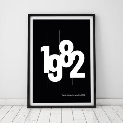 Regali di Compleanno per i 40 Anni - Data di Nascita - Poster Personalizzabile