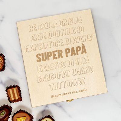 Scatola di cioccolatini personalizzabile con testo