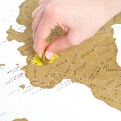 Regali per la Sorella - Mappa del mondo da grattare