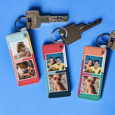 Regali per la Sorella - Portachiavi Personalizzabile con 2 Foto