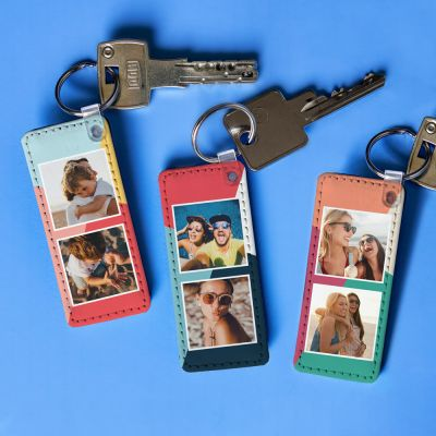 Portachiavi Personalizzabile con 2 Foto