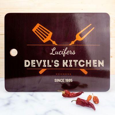 Cucina & Grill - Tagliere Personalizzabile Nero