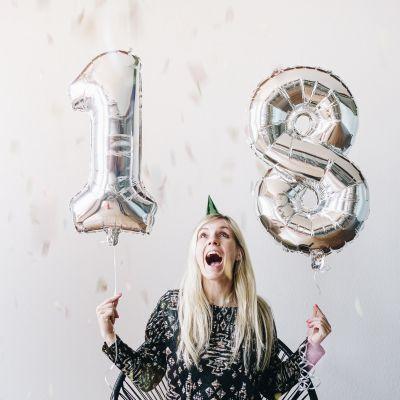 Regali compleanno per lei - Palloncini a Forma di Numeri Giganti
