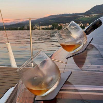Bicchieri da Whisky Magnetici con Sottobicchieri in Gel
