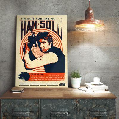 L'Universo Di Star Wars - Poster di metallo Star Wars – Han Solo Retrò
