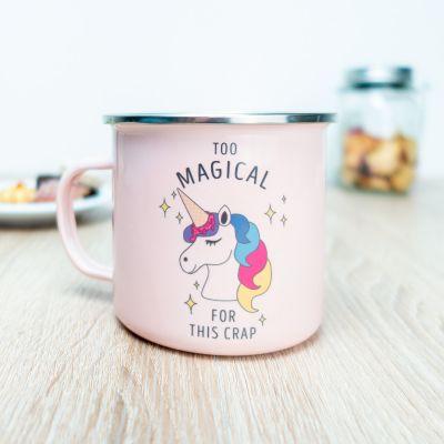 Tazze personalizzate - Tazza in metallo personalizzabile unicorno