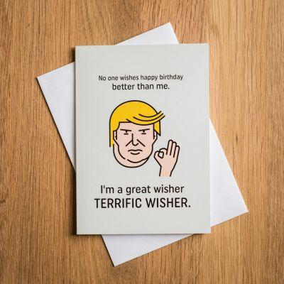 Biglietto di Compleanno Terrific Trump