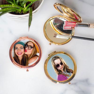 Regali per Lei - Specchietto Tascabile Personalizzabile con Foto
