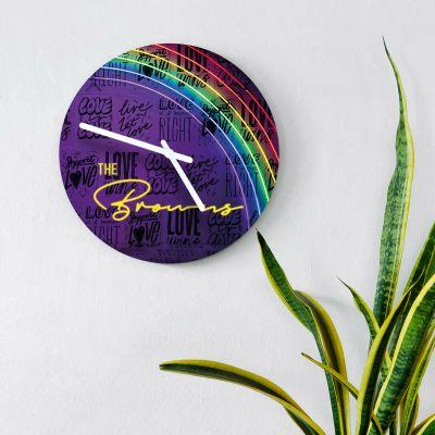 Orologio da Parete Personalizzabile in Neon Design