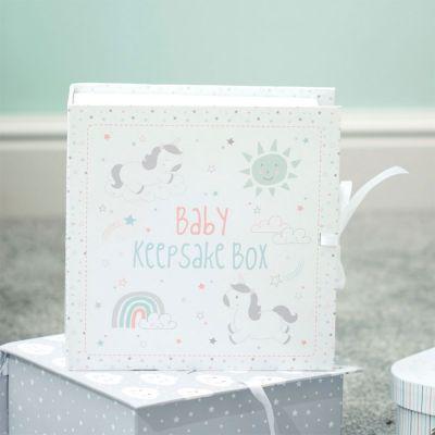 Regali per neonati - Scatola dei Ricordi con Unicorni per Bambini