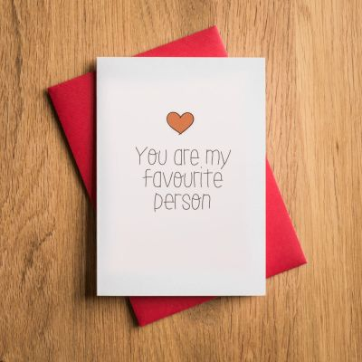 Biglietto di San Valentino - Tu Sei la mia Persona Preferita