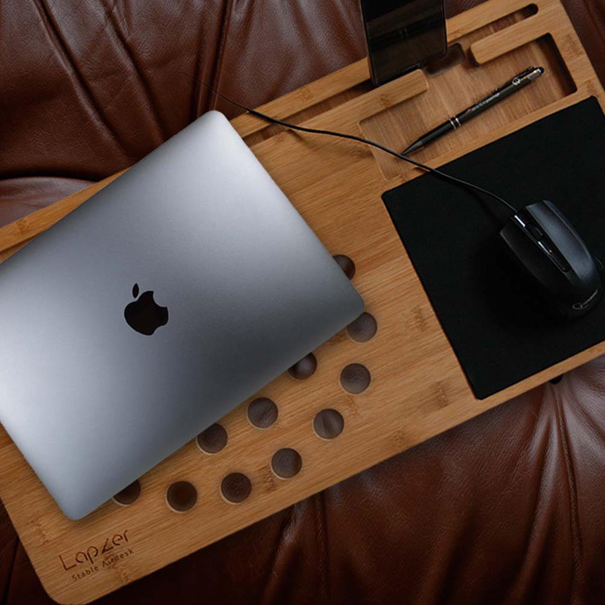 Regali compleanno per lei - Supporto in legno per PC portatili - Lapzer eb680bd8c58