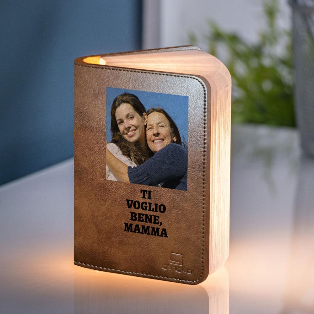 regali per la mamma lampada libro con foto e testo