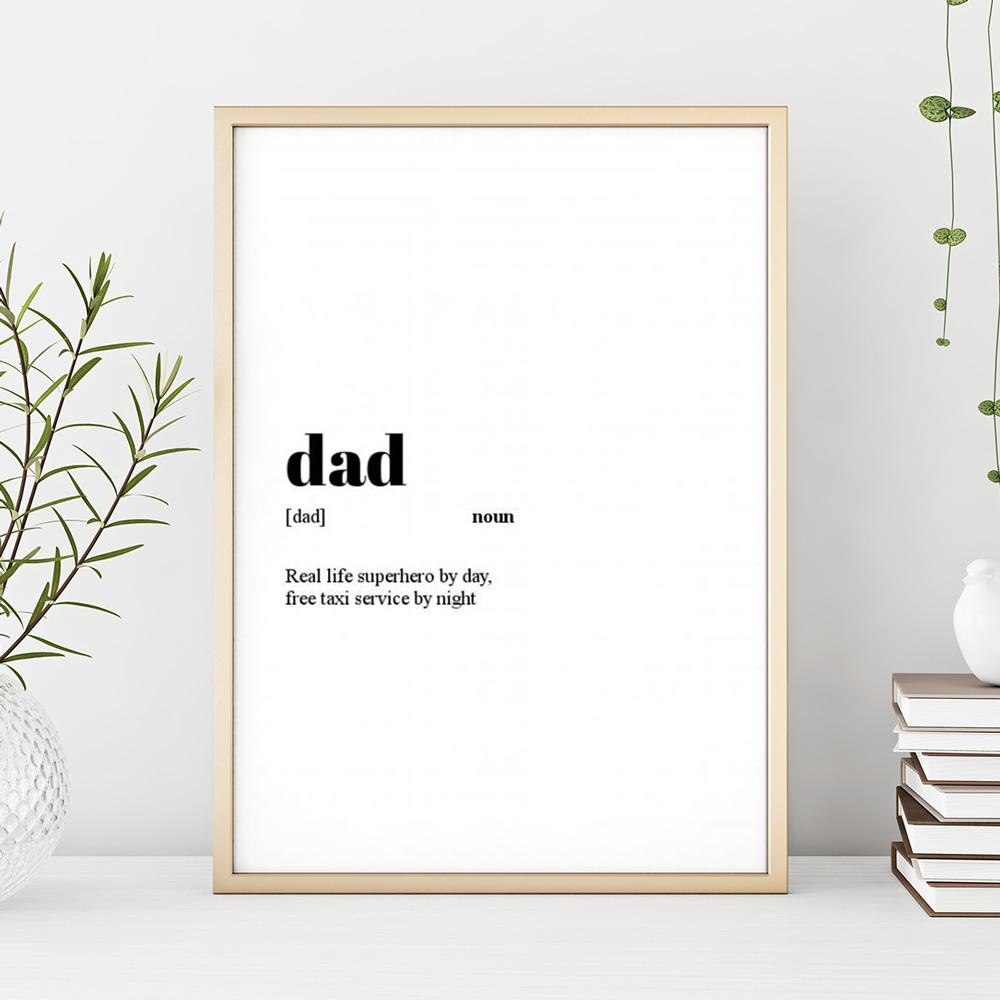 regali per il papà poster personalizzabile con definizione