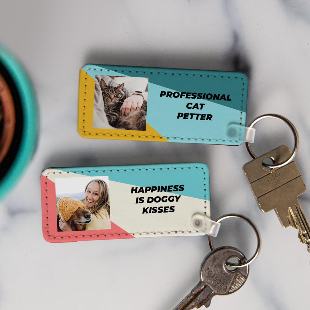 regali per amanti degli animali portachiavi personalizzabile con foto
